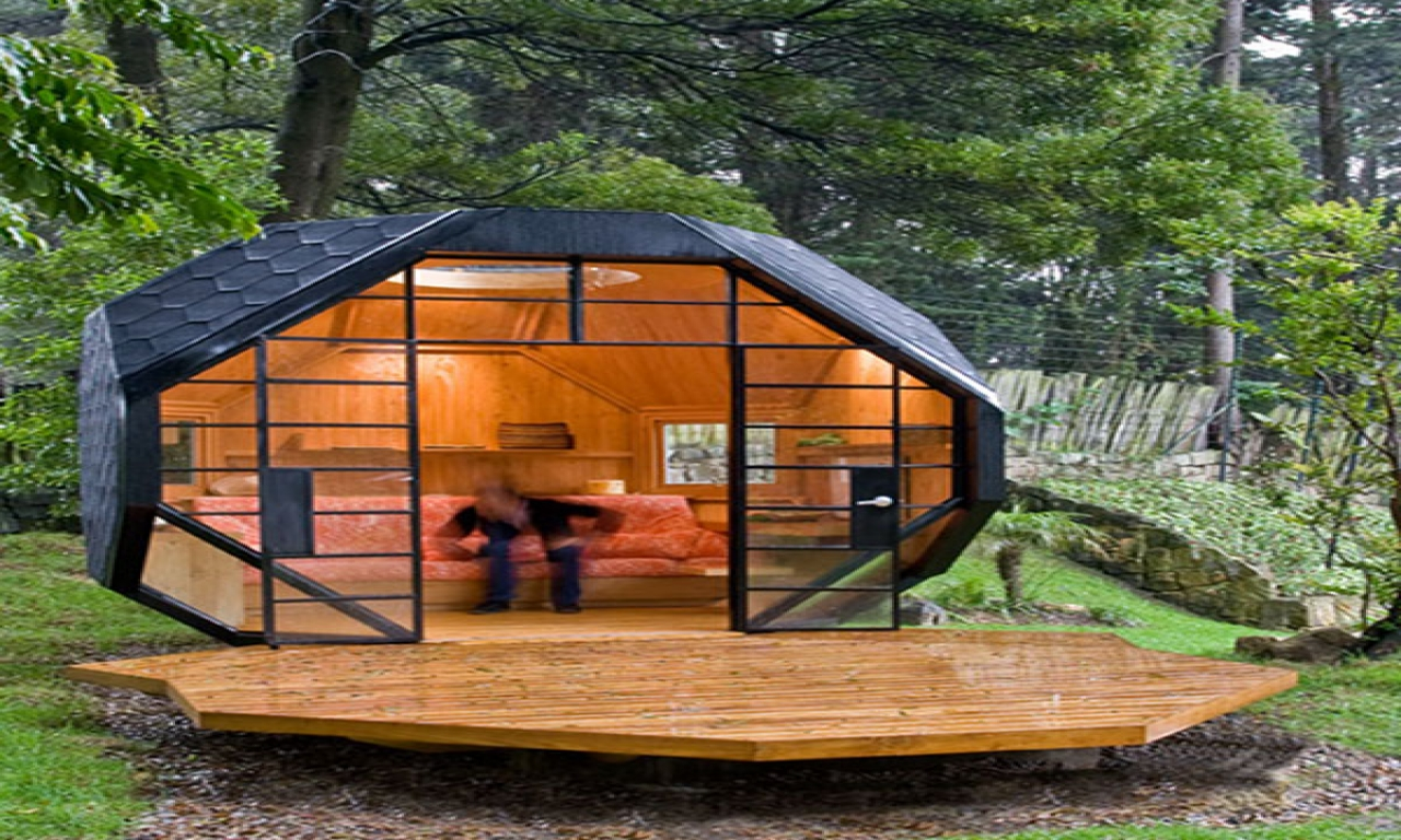 Polyhedron House Polyhedron Hut Cool Cabin Designs
