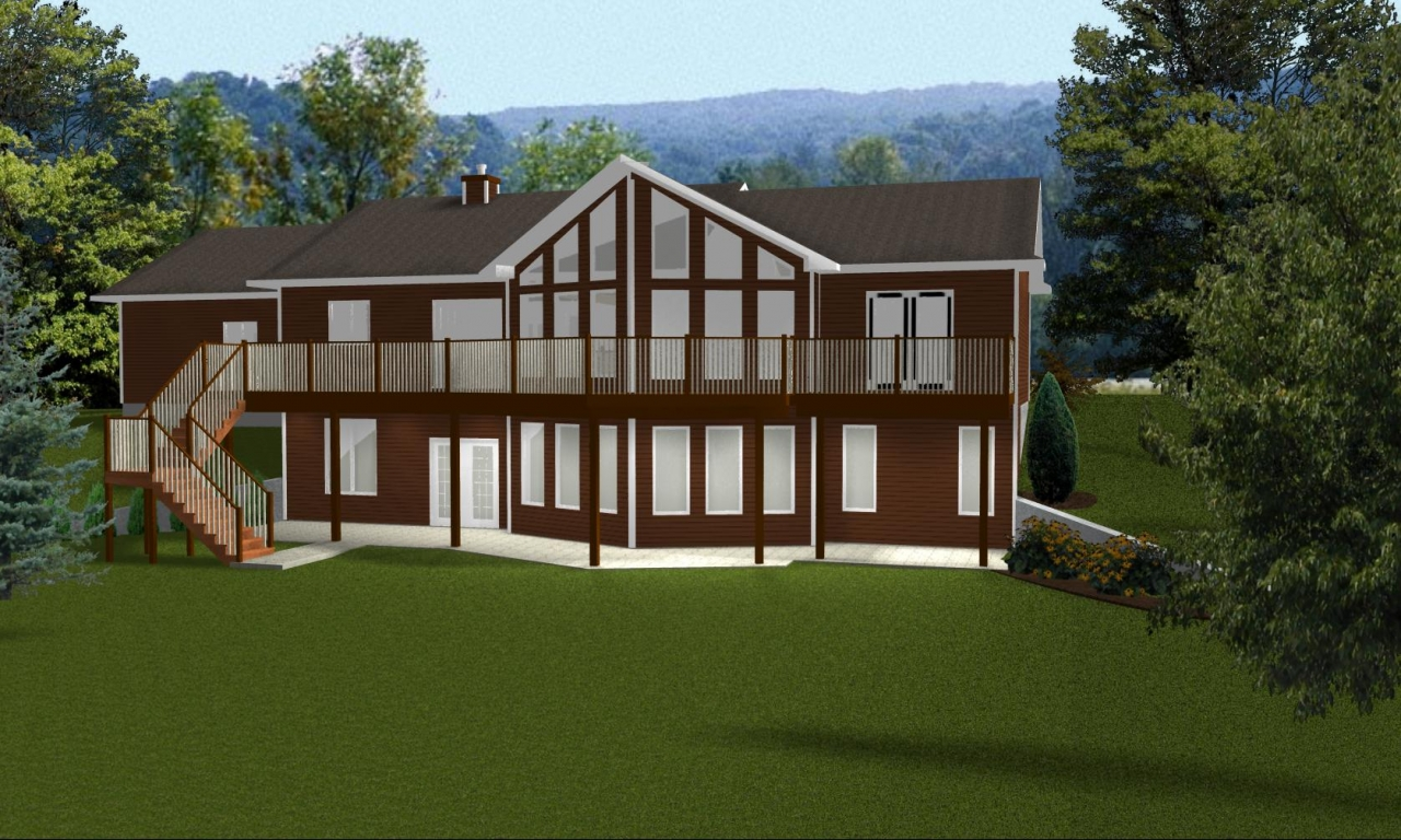 Ranch style house plans with walkout basement open ranch for Home plans california