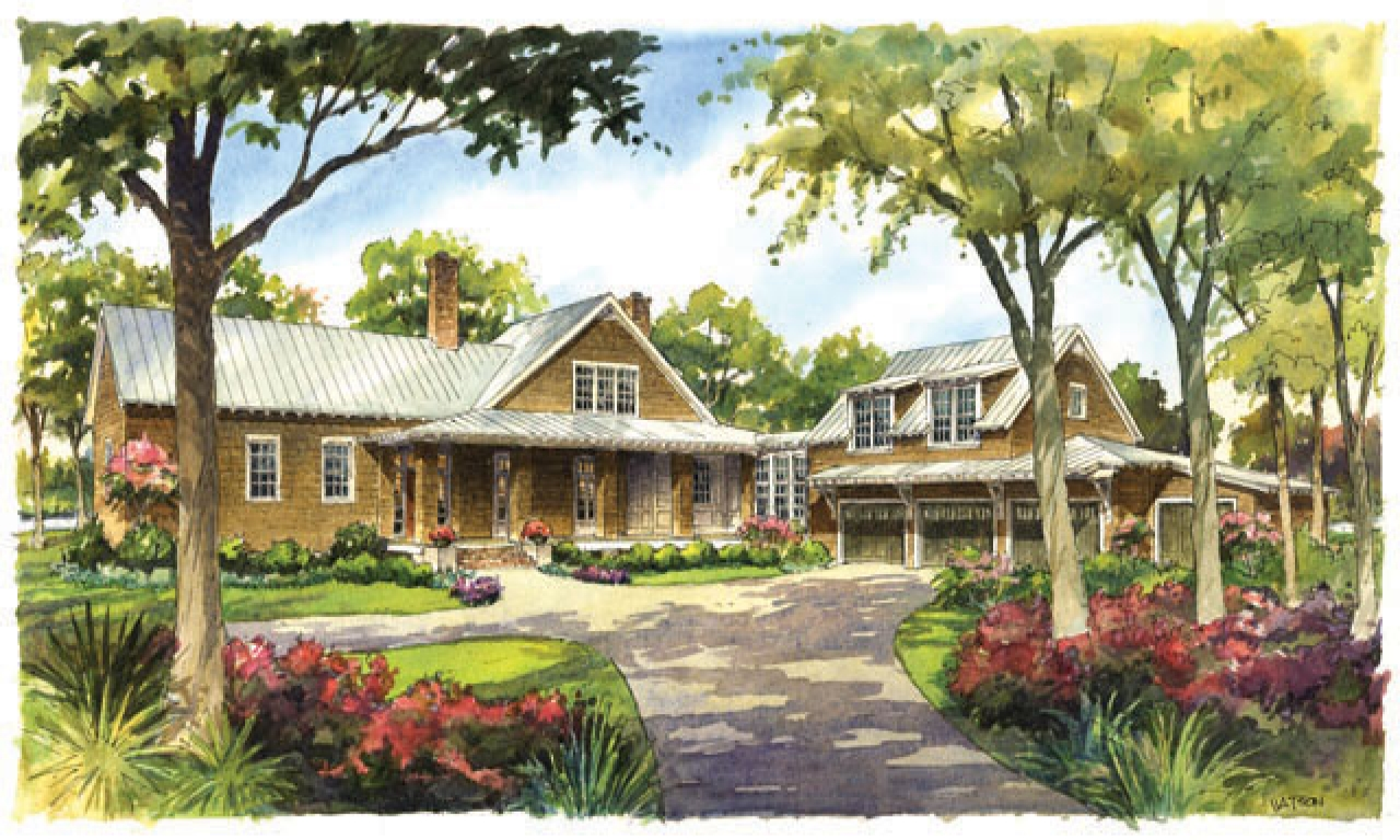 River house plans southern living country house plans with for River cabin plans