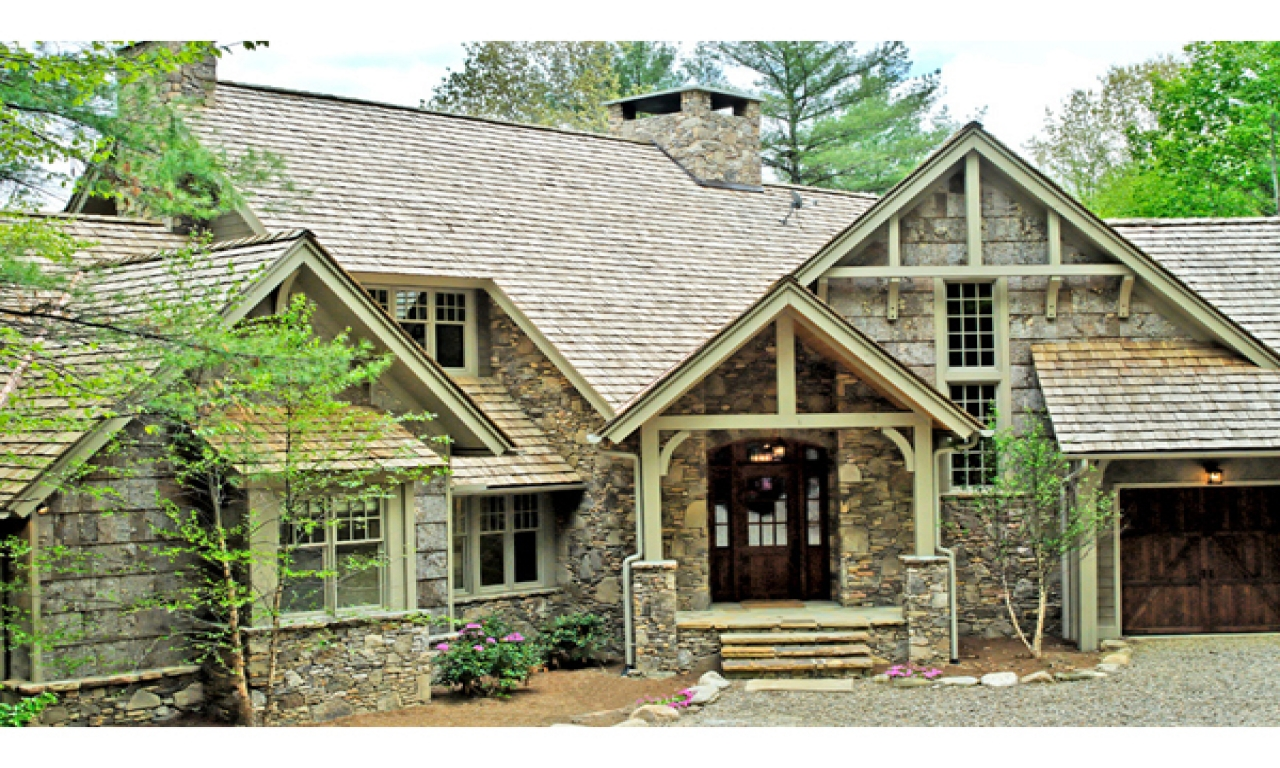 Rustic house plans one level house plans rustic homes for Rustic mountain house plans