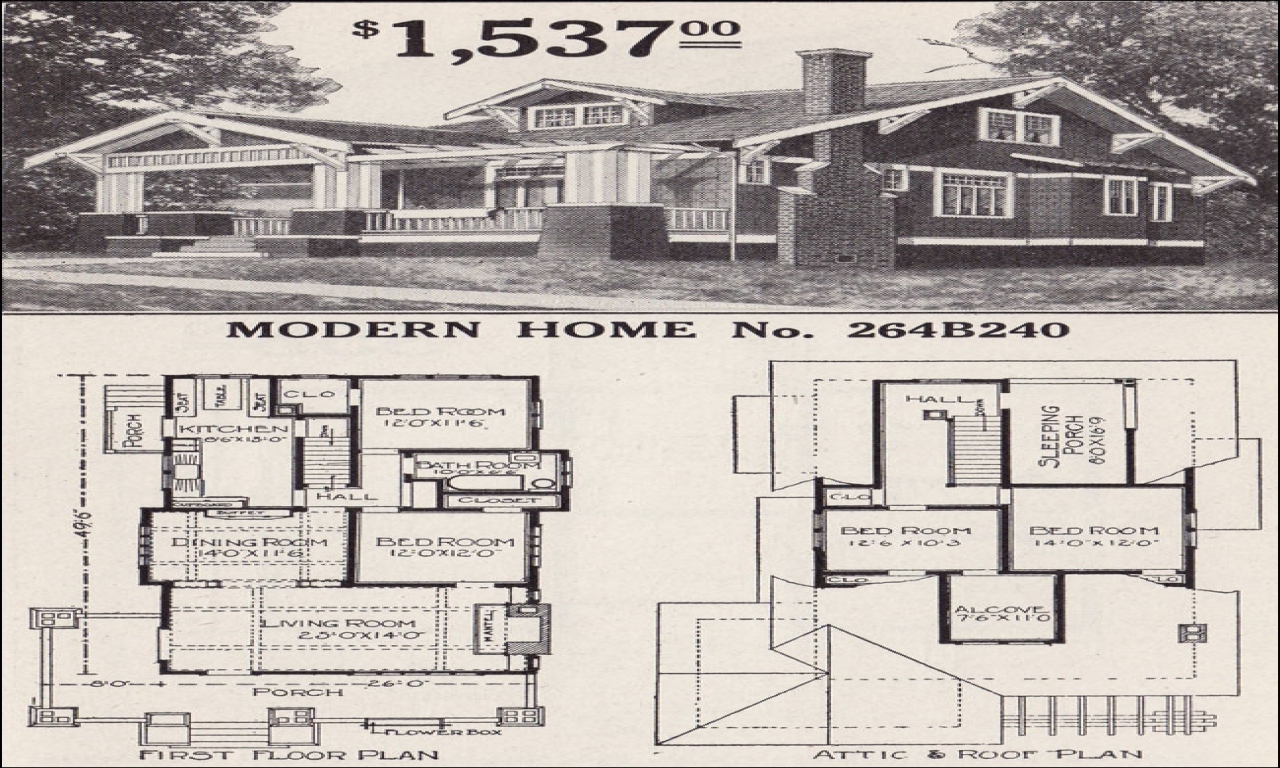 Sears craftsman bungalow home plans 1930s sears bungalow 2 for Craftsman bungalow house plans 1930s
