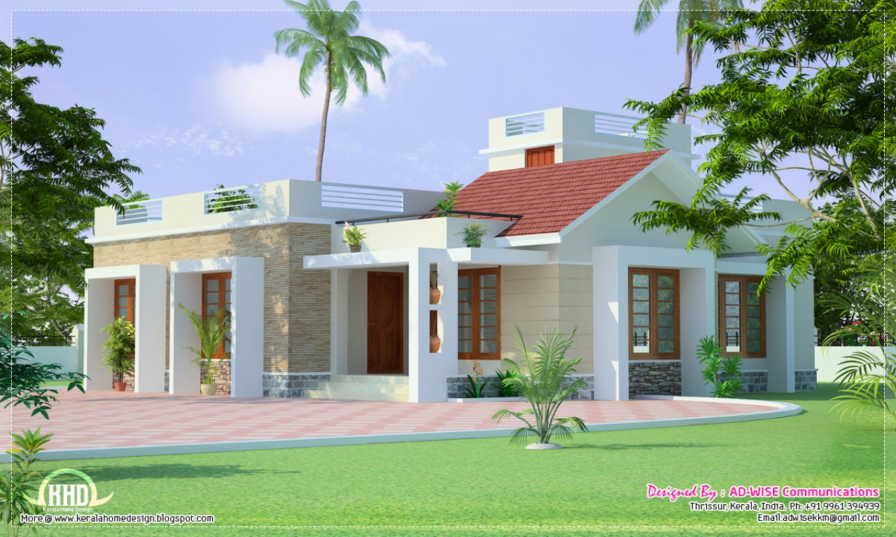 Single story exterior house designs french country house for Single story home layouts