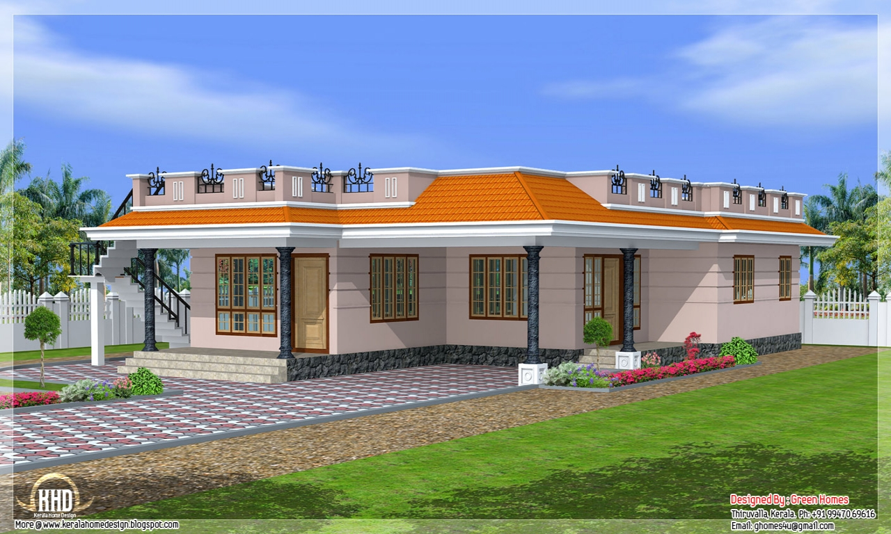 Single Story Exterior House Designs One Story House ...