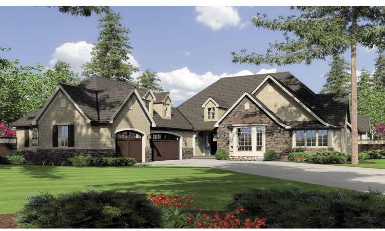 Single story house one story country house plans country for Two story country house plans