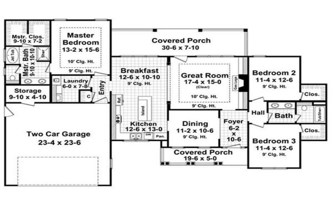 1800 Sq Ft Duplex 1800 Sq Ft Ranch House Plans Ranch