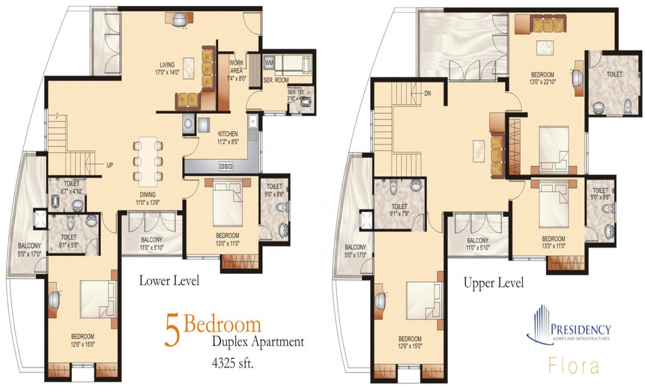 3 Bedroom Duplex Floor Plans Three Bedroom Duplex
