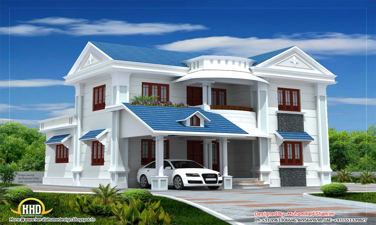 Beautiful exterior house design inside house designs for Beautiful farmhouse plans