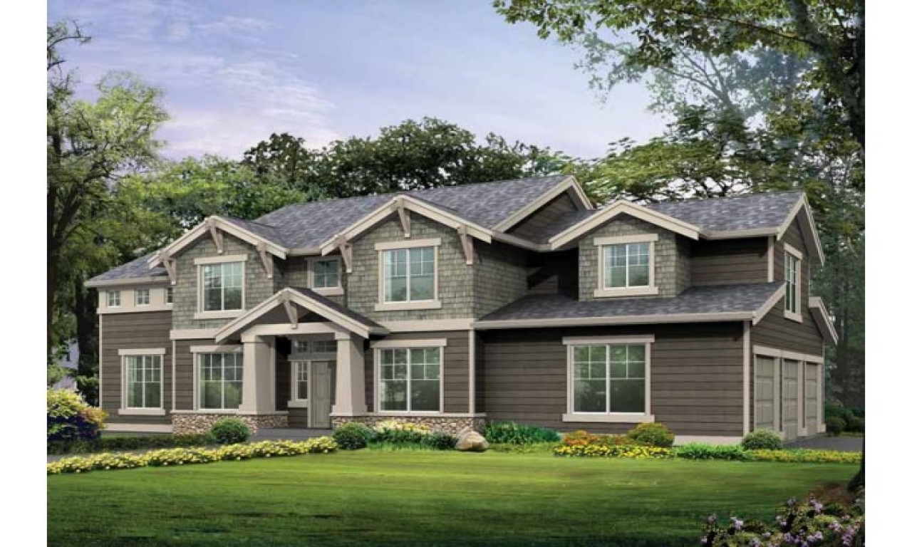 Beautiful two story house craftsman two story house for Beautiful two story homes