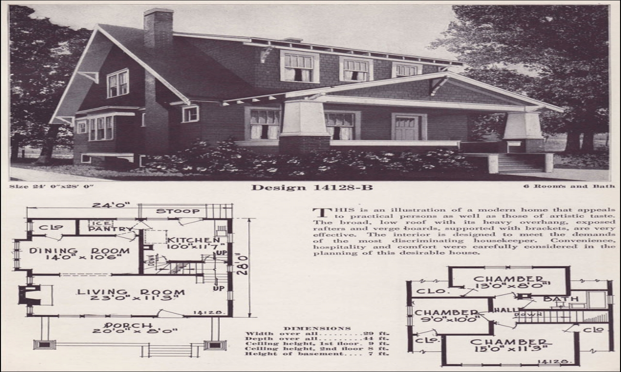 Bungalow Cottage House Plans Craftsman Bungalow House