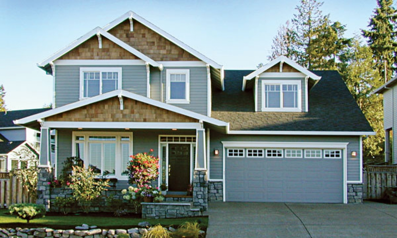 Craftsman style homes with garage ranch style homes for Ranch style house plans with attached garage