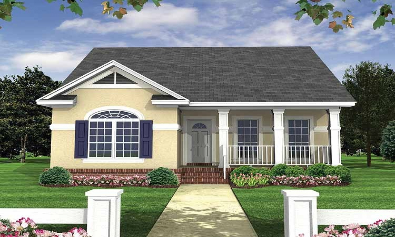 Economical small cottage house plans small bungalow house for Small economical house plans