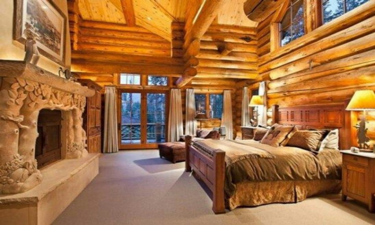 Log Cabin Master Bedroom Cabins Inside Bedrooms Style Treesranch