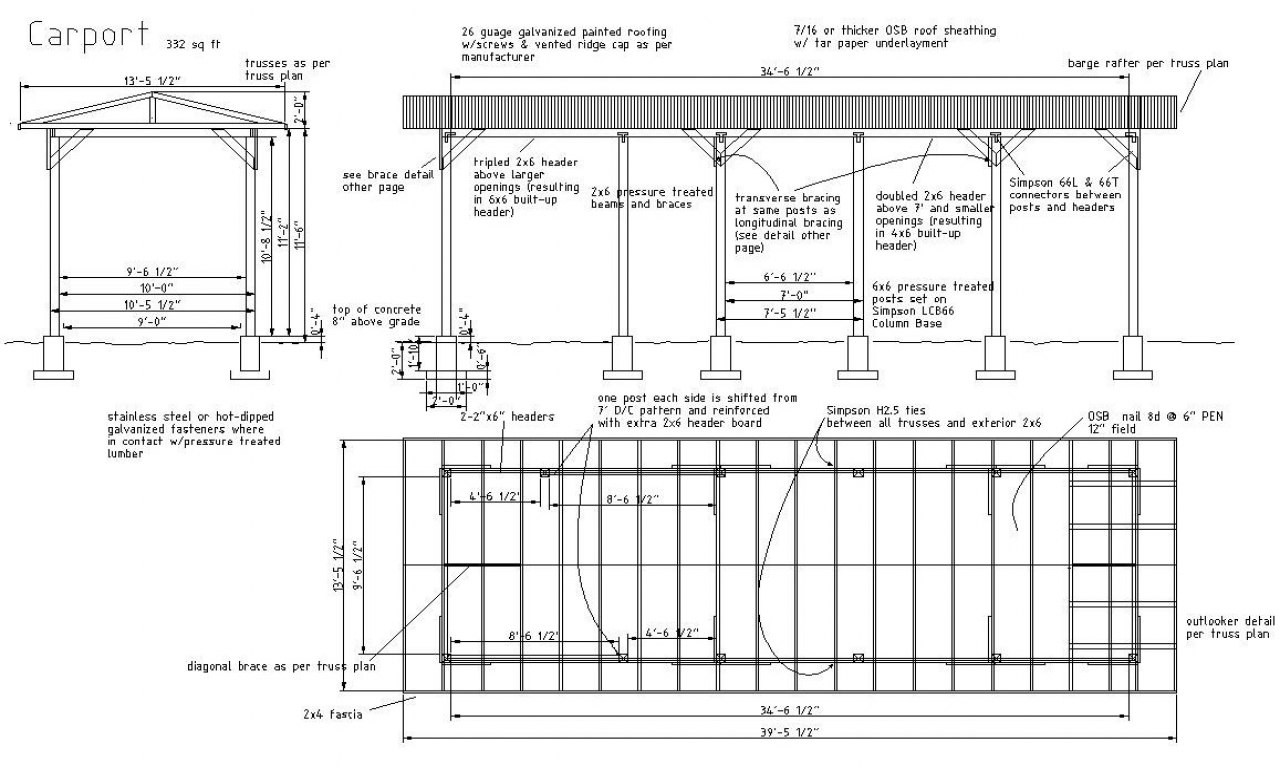 metal carport plans free rv carport plans  construction