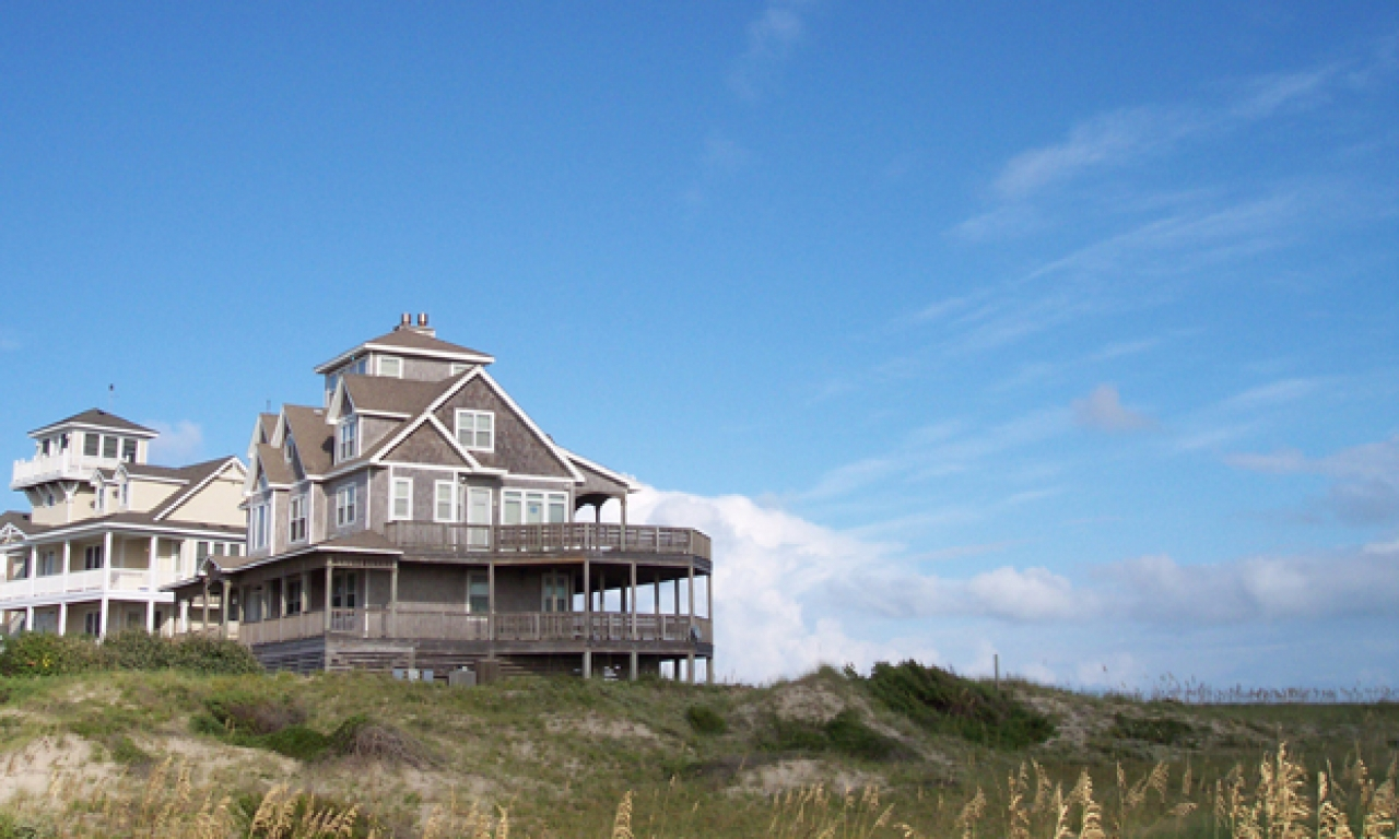 Oceanfront outer banks vacation rental beach house outer for Beach house plans outer banks