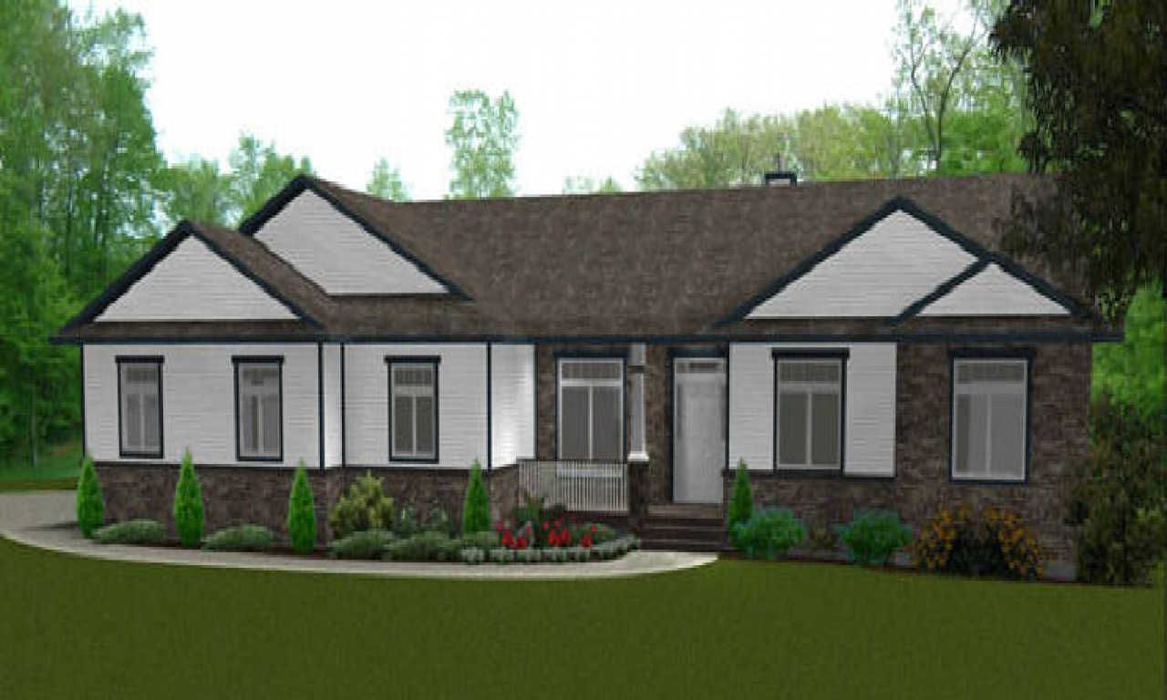 Ranch style bungalow house plan ranch homes with dormers for Ranch style bungalow house plans