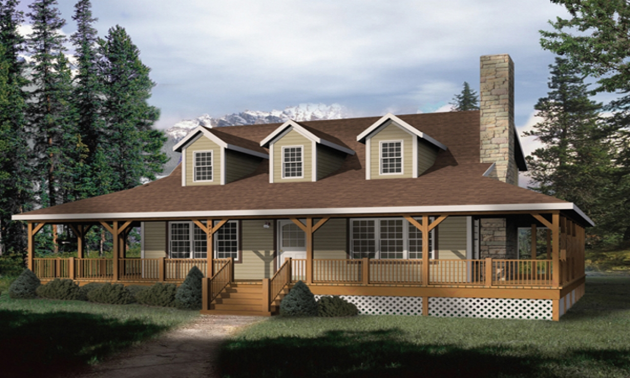 Rustic house plans with wrap around porches rustic house for Open house plans with porches