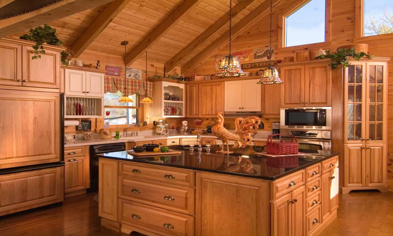 Rustic Log Cabin Kitchen Cabinets Log Cabin Kitchen Design Ideas Design Log