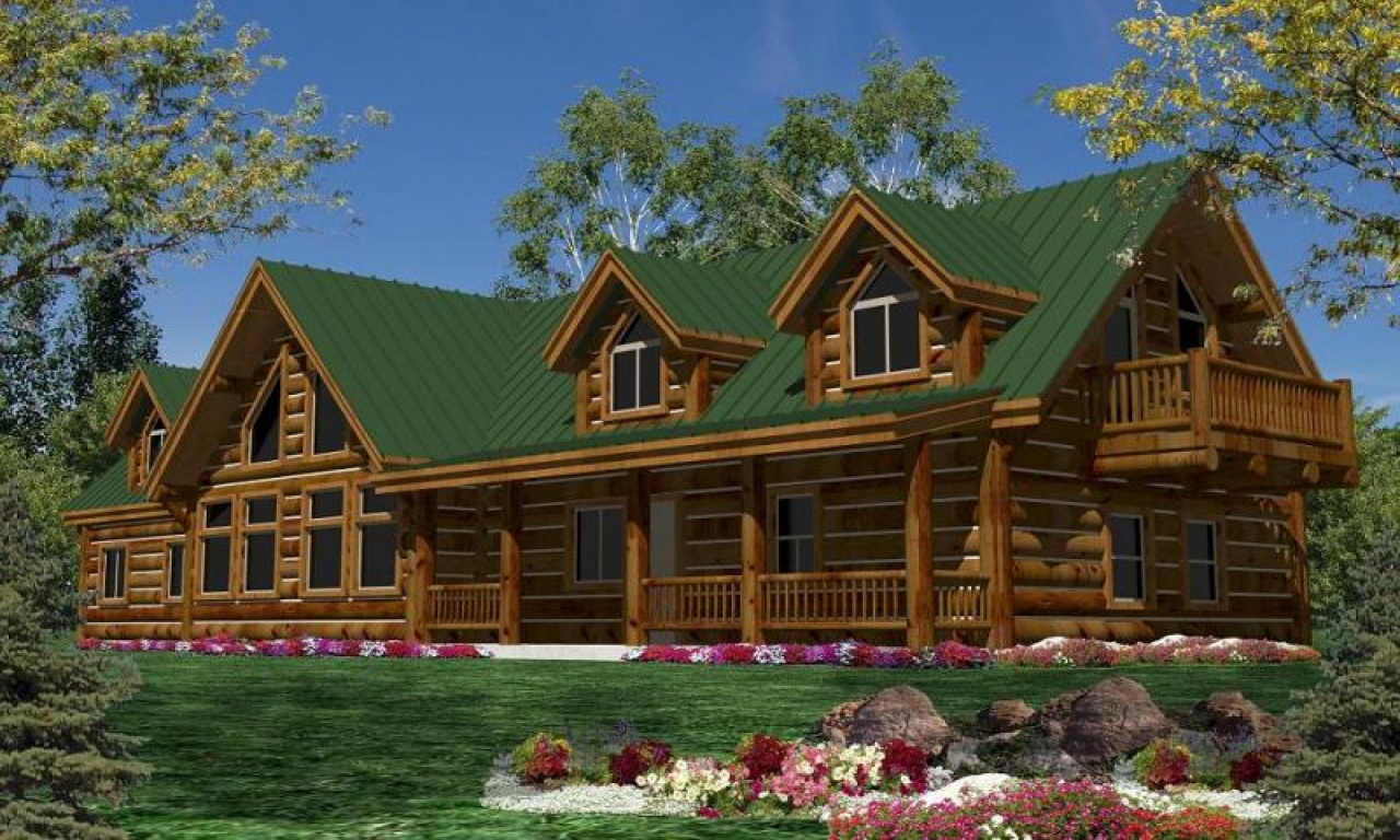 Single story luxury mountain cabin plans single story log for 1 story home kits