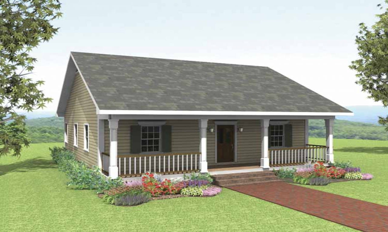 Small 2 bedroom cottage house plans 2 bedroom retirement for Retirement home plans