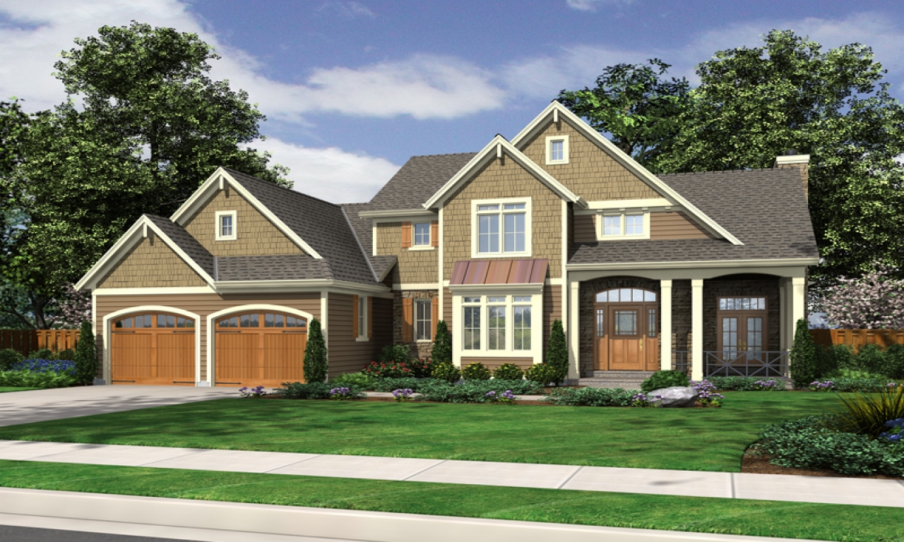 Two story house plans with front porch simple two story for Two story ranch house plans