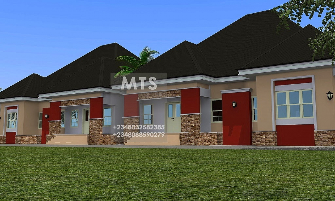 3 bedroom bungalow designs luxury 3 bedroom house plans 2 for Twin bungalow plans