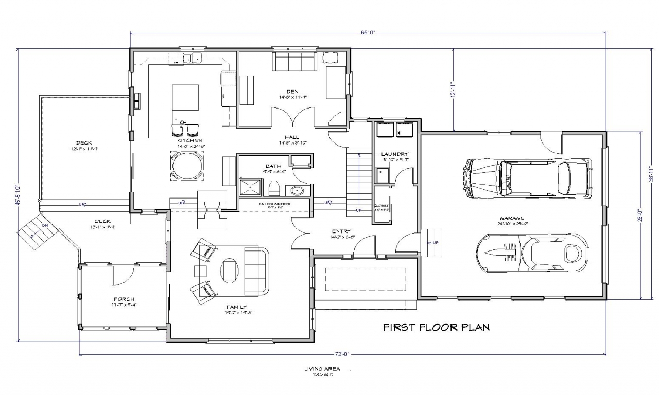 3 bedroom house plans 3 bedroom ranch house plans lake for Lake house floor plan