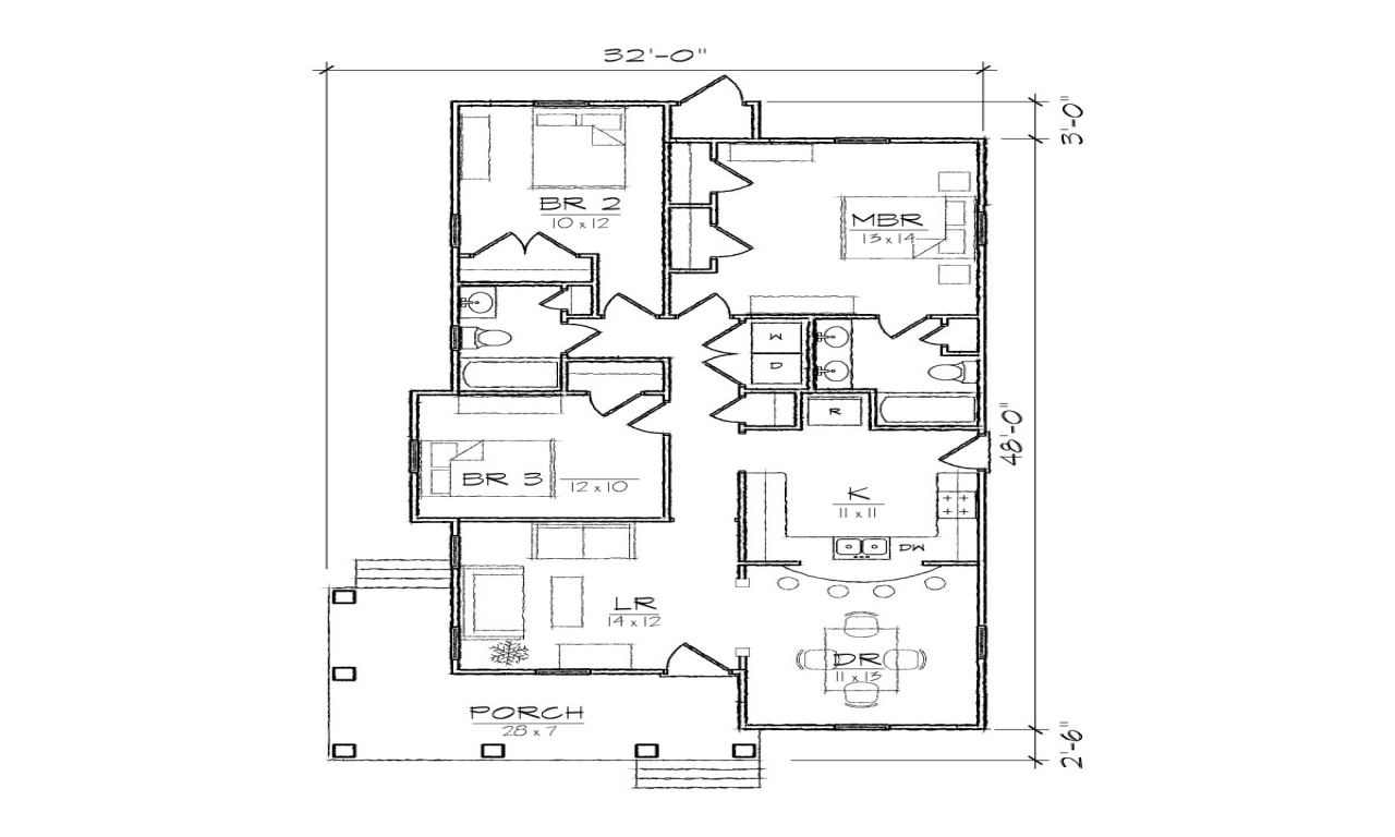 Bungalow house floor plans vintage bungalow house plans for Vintage bungalow house plans
