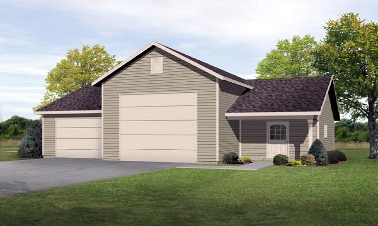 Ranch house plans detached garage for Detached garage blueprints