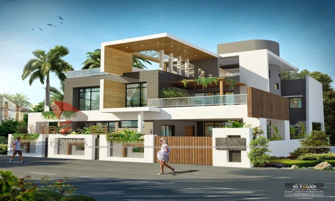 Front Elevation Of Beautiful Houses Or Bungalow : Front elevation modern design bungalow