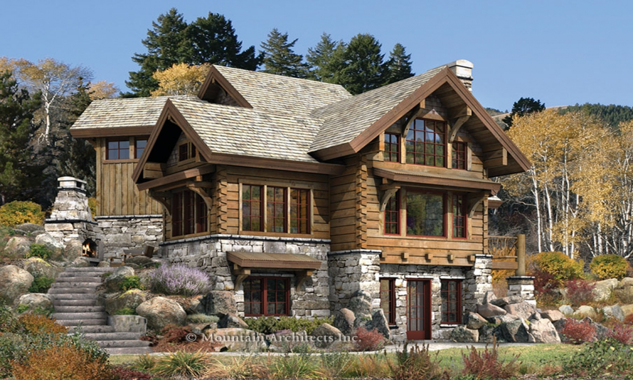 Luxury mountain log homes log cabin dream home log home for Mountain dream homes