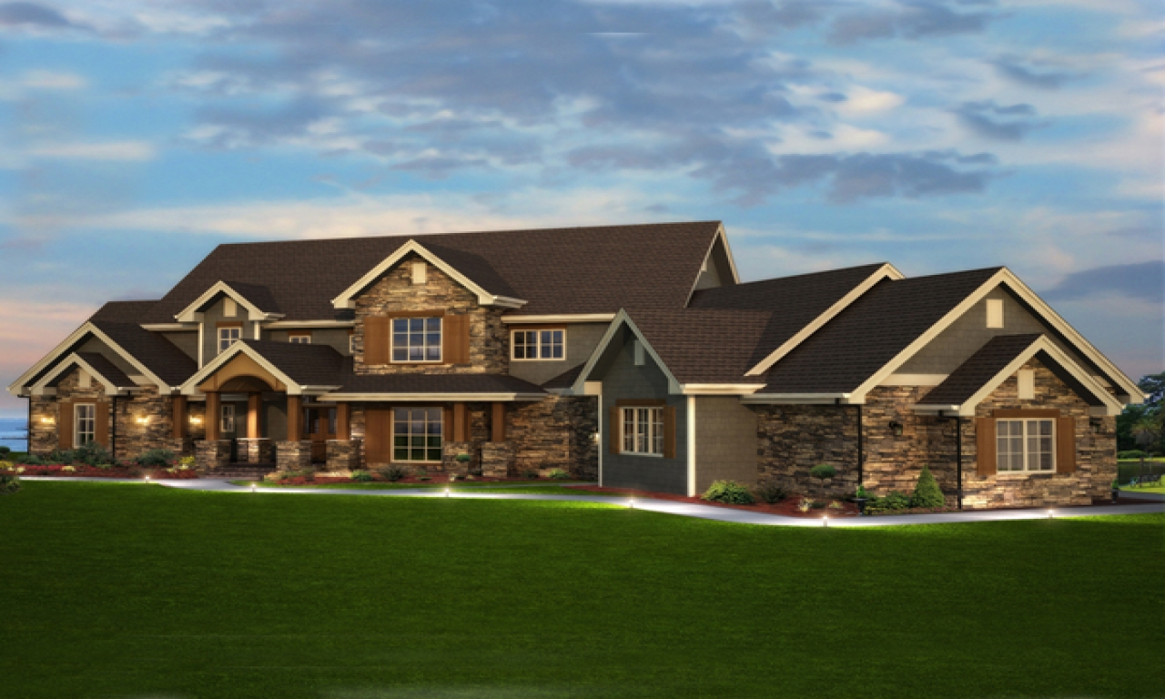 Luxury Ranch Home Plans Rustic Luxury Home Plans, Stone