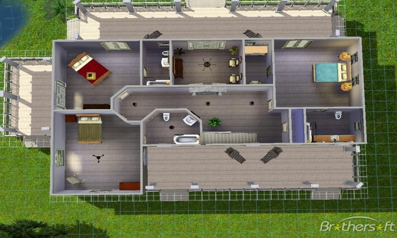 Sims Houses Inside House Ideas Beach Layouts Treesranch