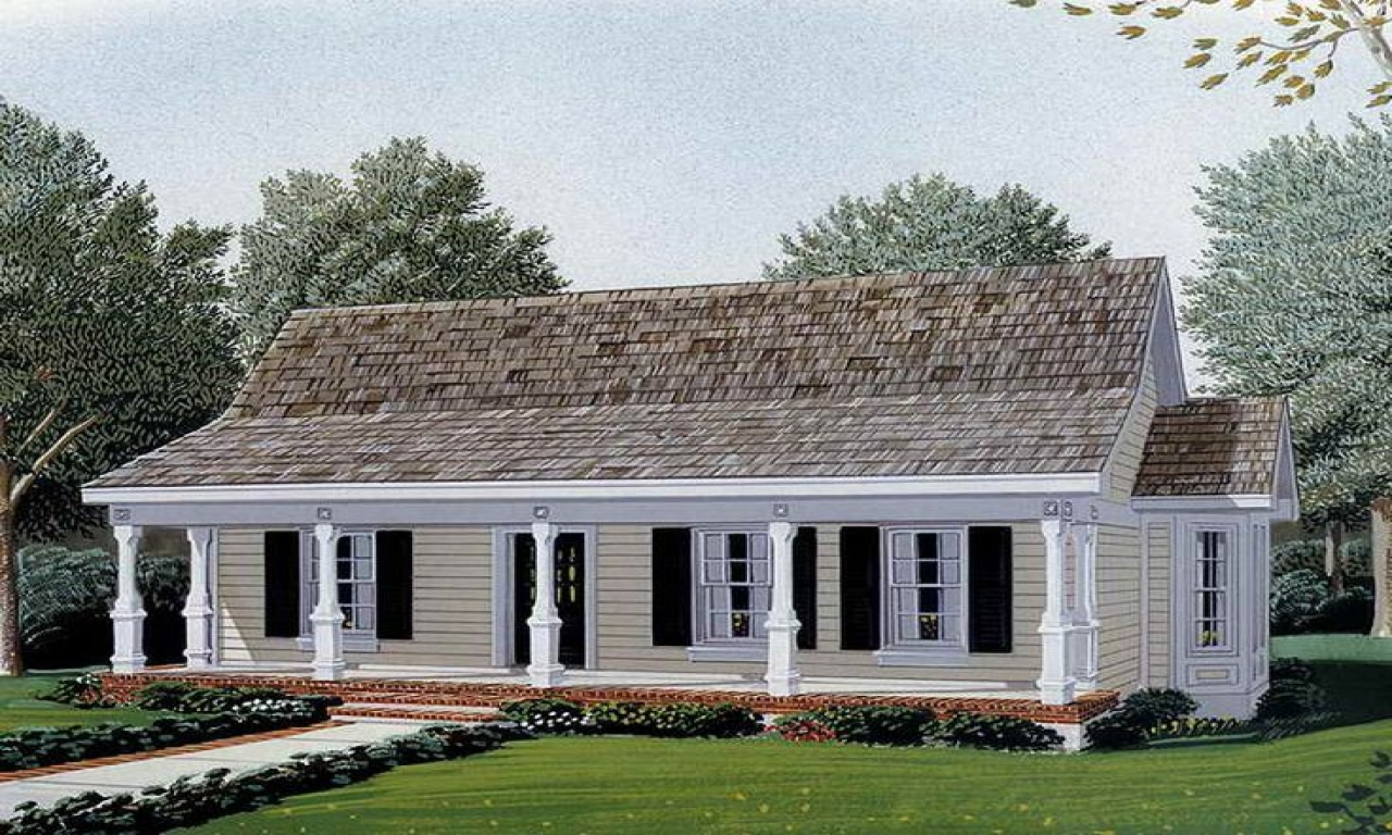 Small country style house plans small kitchen designs for Farm ranch home designs
