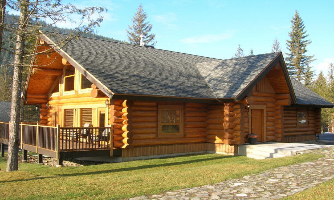 Small log cabin floor plans small log cabin homes plans for Log cabin house designs