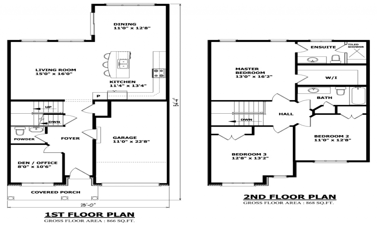 Two Floor House Inside Two Story House Floor Plans, two ...