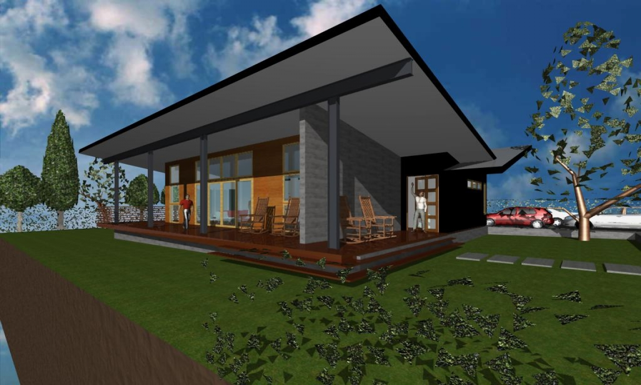 Vacation home plans modern roof deck modern vacation home for Free vacation home plans