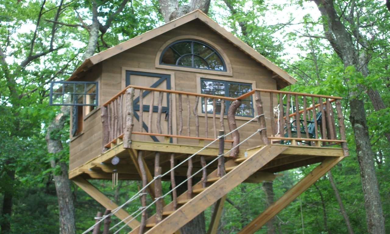 Cool tree house plans simple tree house designs simple for Easy build house plans