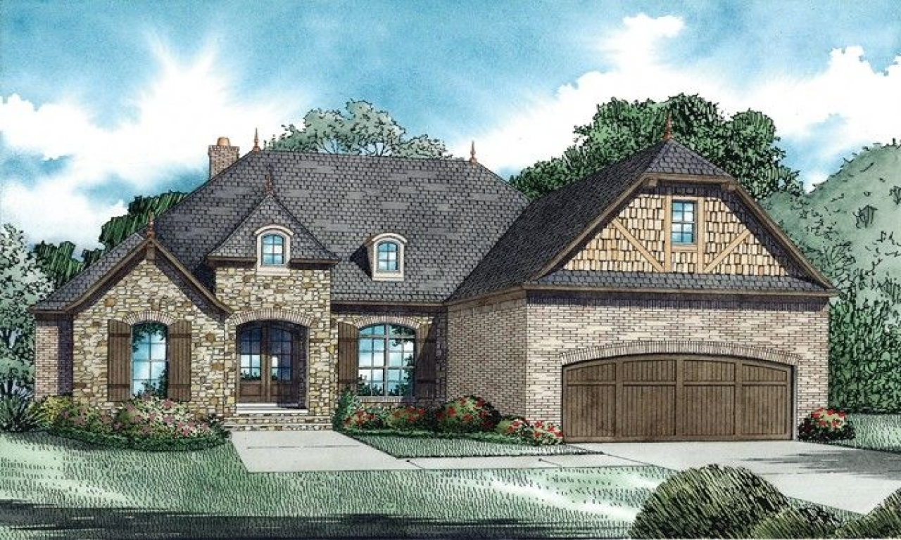 English cottage style home plans french cottage style for Cottage type house plans