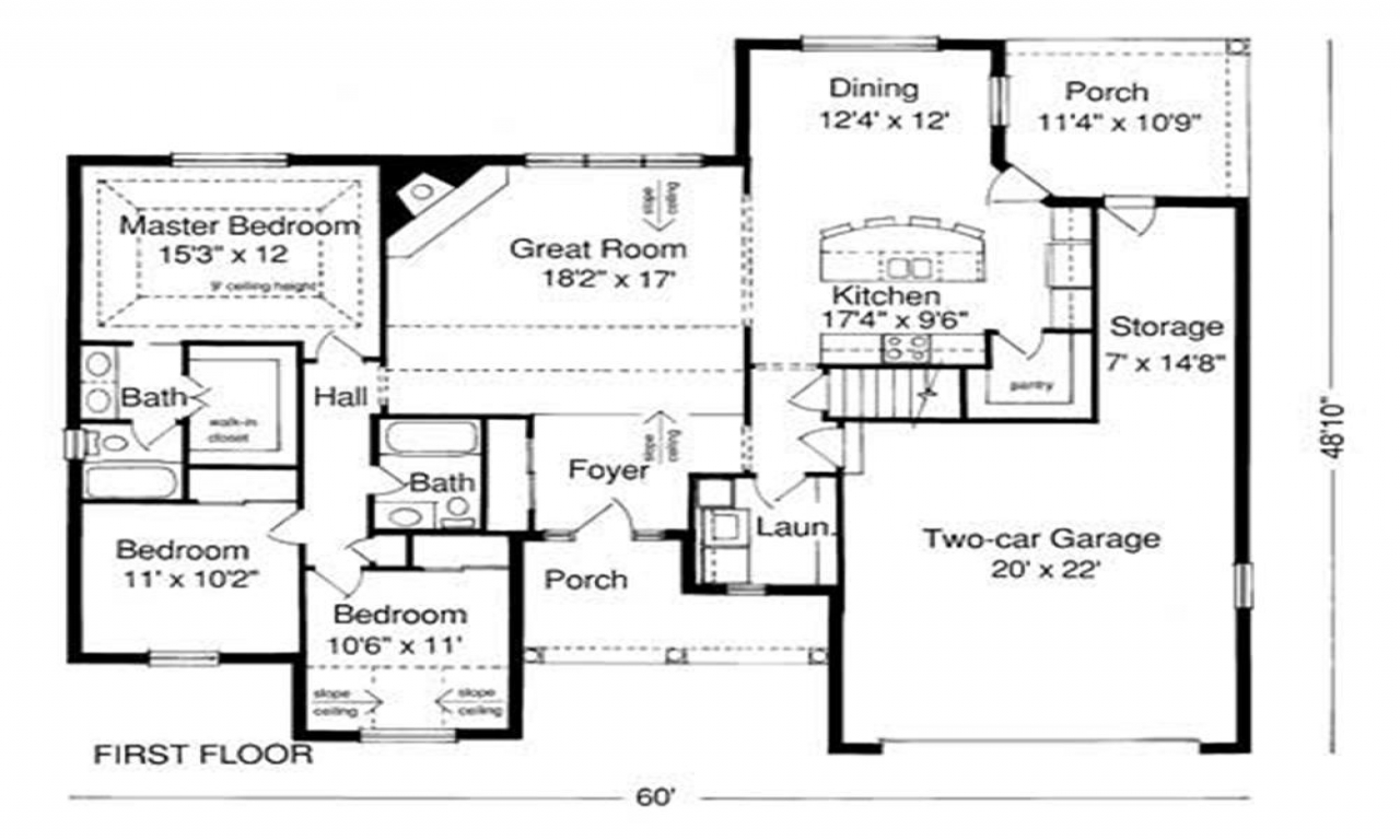 example of house plan blueprint sample floor plans  house plan example