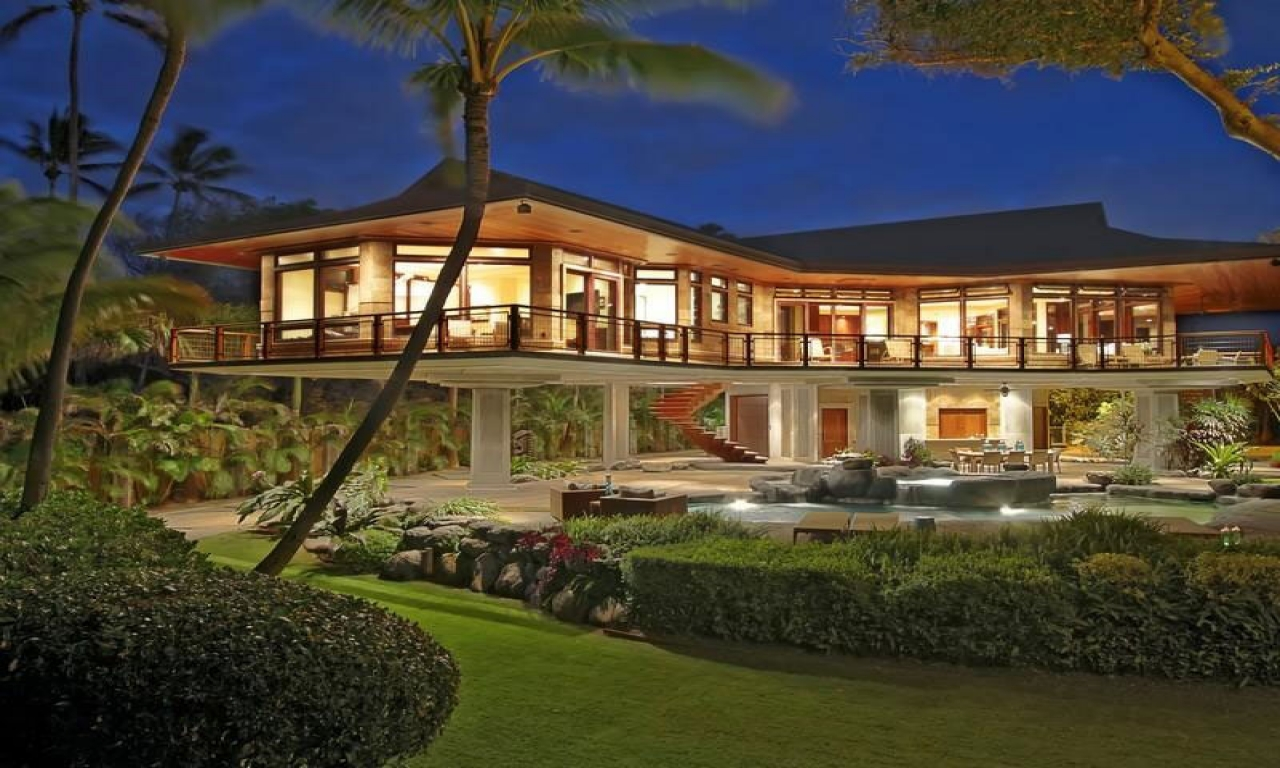 Hawaii beachfront home design luxury homes in hawaii for Beachfront home plans