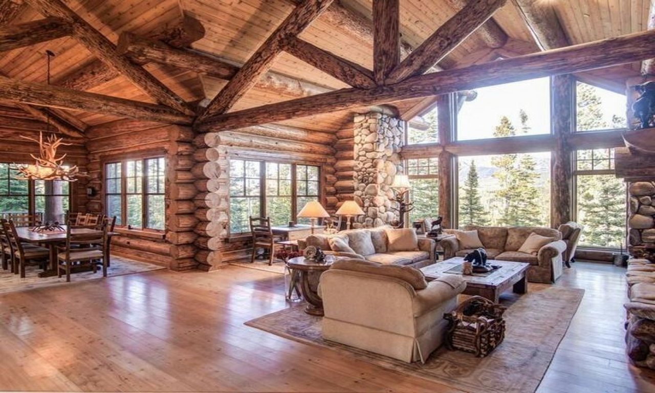 Log Homes With Open Floor Plans Log Homes With Hardie