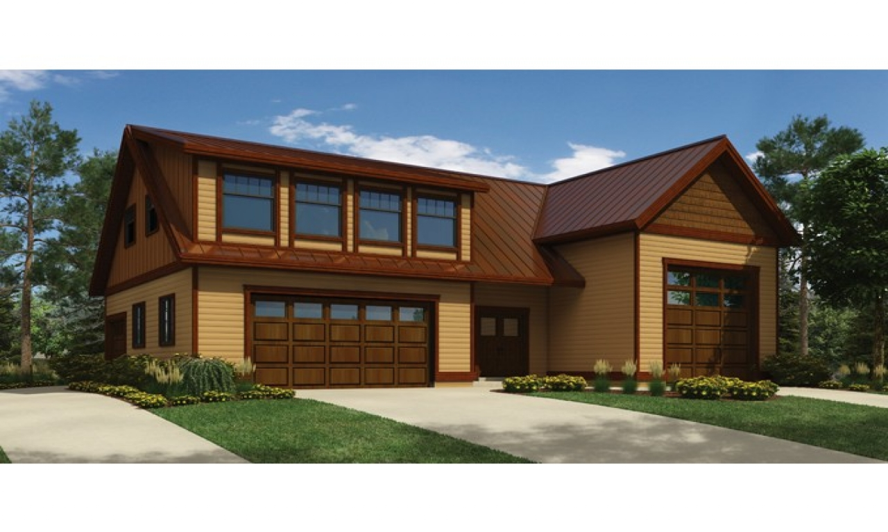 Modern detached garage modern garage with apartment plans for 2 bedroom house plans with attached garage