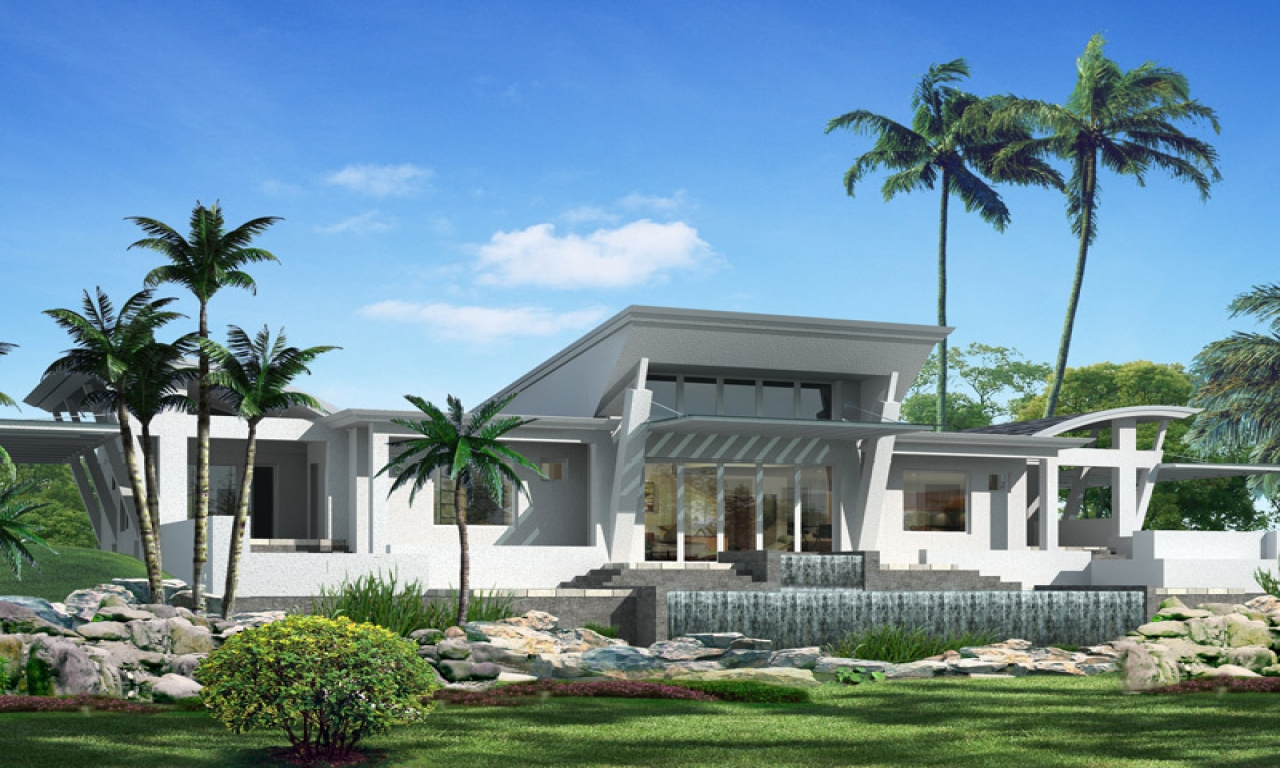 One story modern home design one story mediterranean house for Single story mediterranean style homes