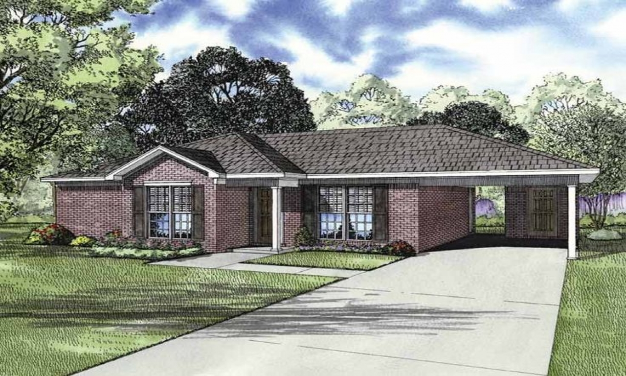 Ranch House Plans With Carport Ranch House Plans With Open