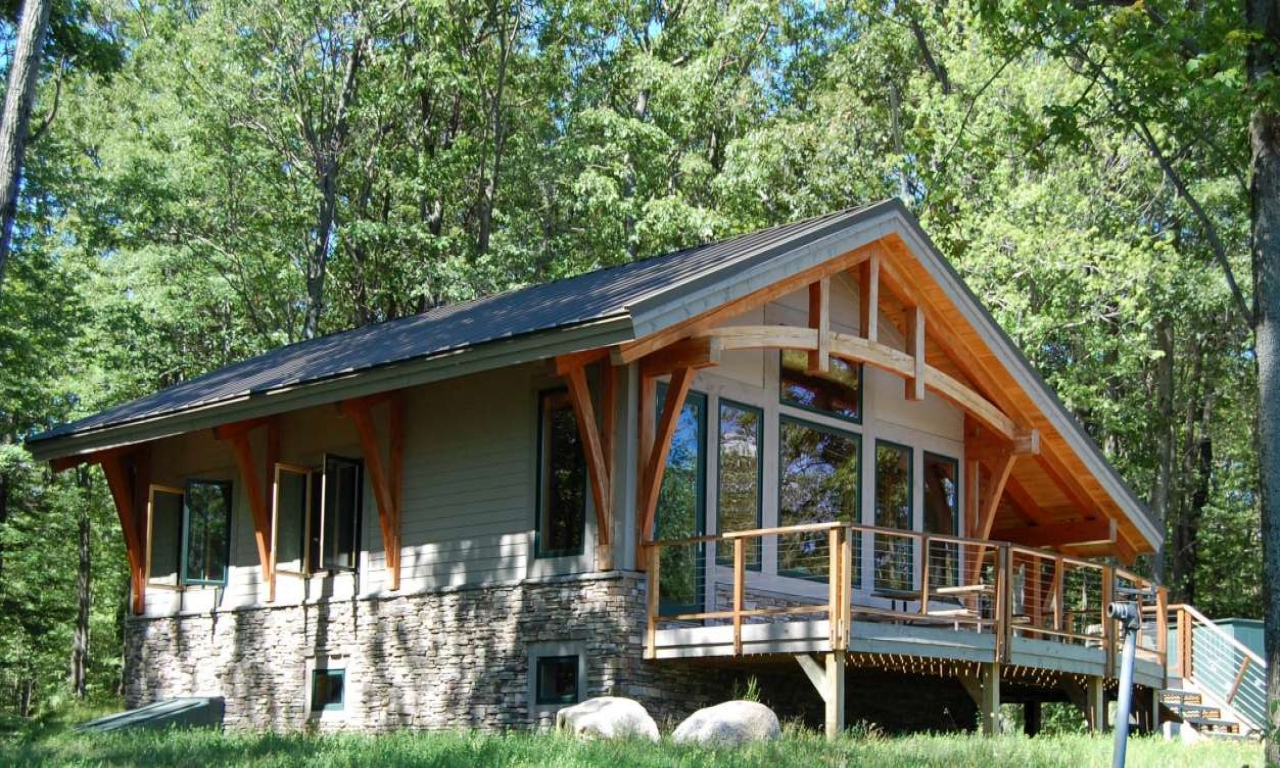 Simple Timber Frame Cabin Small Timber Frame Cabin Kits