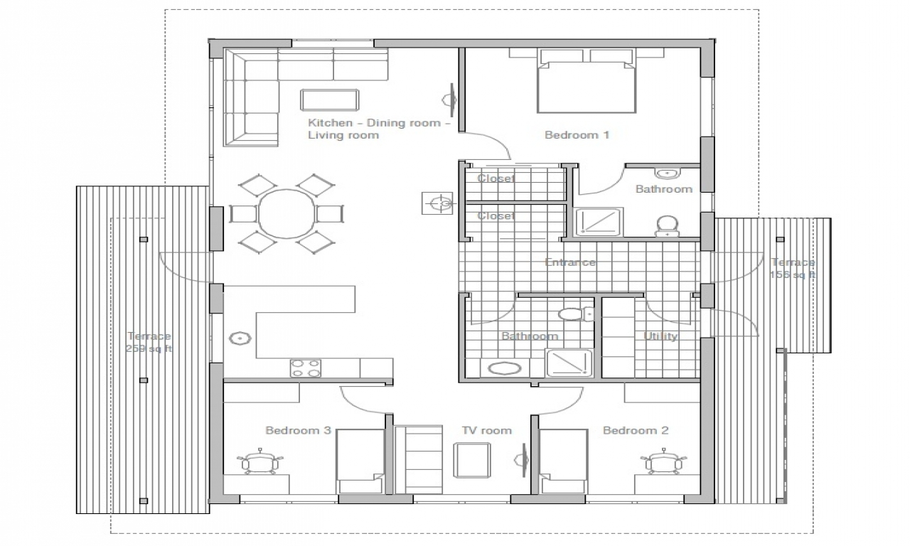 Small affordable house plans very small house plans micro for Affordable home designs