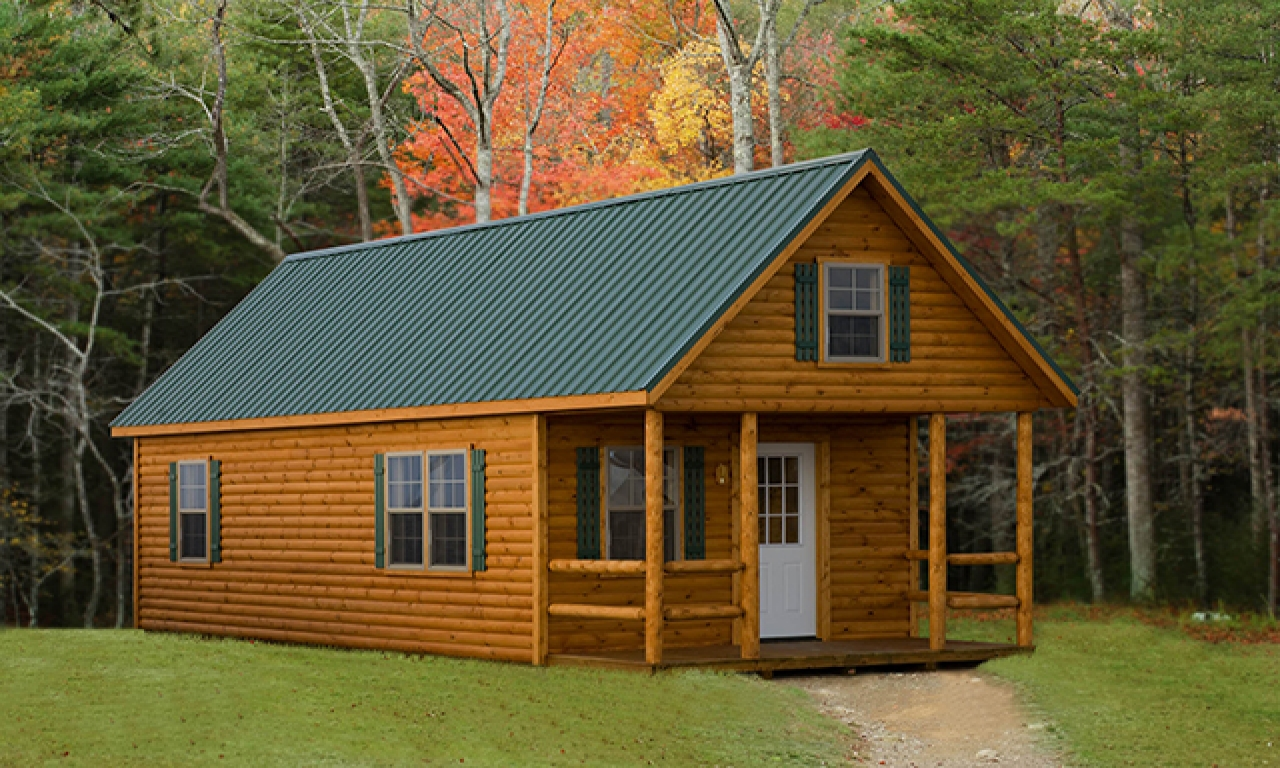 Small amish built log cabins amish built cabins in new for Amish house builders