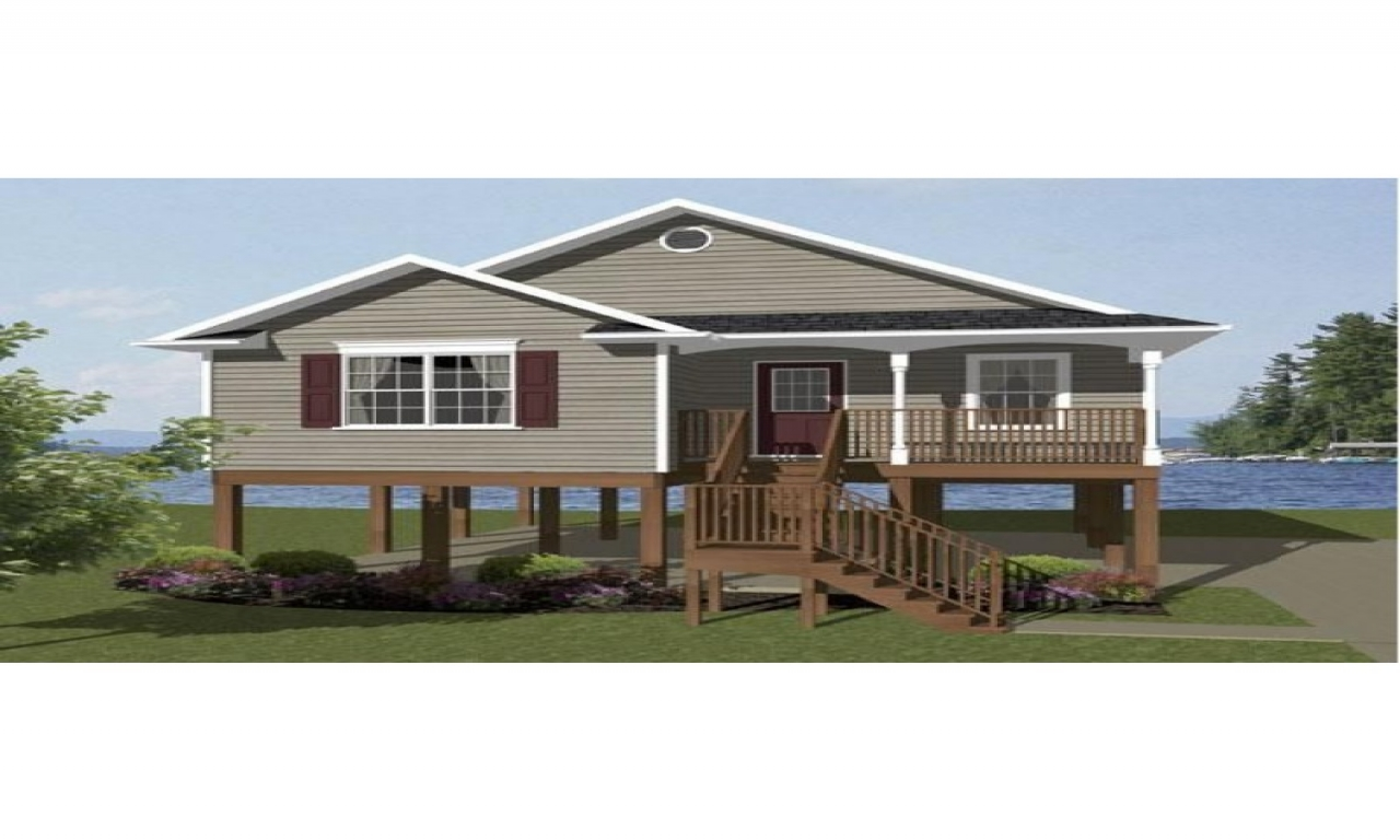 Small beach house plans beach house plans on pilings for Beachfront house plans