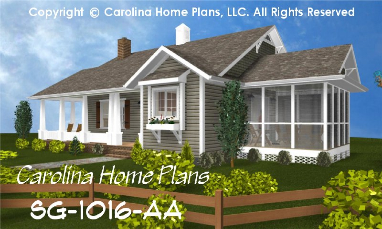 Small Cottage House Plans One Story Economical Small