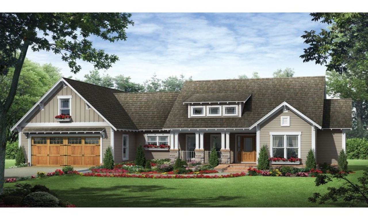 Small craftsman ranch house plan craftsman ranch house for Small ranch homes